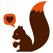 eichhörnchen squirrel loves nuts