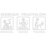 serbian triathlon eating drinking fucking