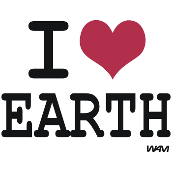 T-Shirt i love earth by wam<br />imprimer sur un tee shirt