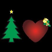 Motif Personnalisé I Love Noël 2