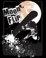 T-Shirt Moon Flip<br />imprimer sur un tee shirt