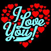 Motif Personnalisé I Love You 6