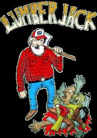 T-Shirt bucheron vs zombie<br />imprimer sur un tee shirt