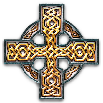 T-Shirt Gold Celtic Cross Twisted<br />imprimer sur un tee shirt