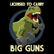 T-Shirt License to Carry Big Guns<br />imprimer sur un tee shirt