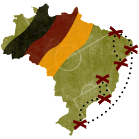 Deutschland Plan für Brasilien auf dein T-Shirt
