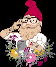 T-Shirt jardin nain Hipster <br />imprimer sur un tee shirt