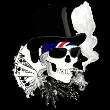 T-Shirt skull<br />imprimer sur un tee shirt
