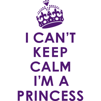 T-Shirt Can t Keep Calm Princess<br />imprimer sur un tee shirt