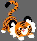 Motif Tigre bondissant