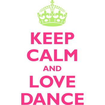 T-Shirt Keep Calm Love Dance<br />imprimer sur un tee shirt