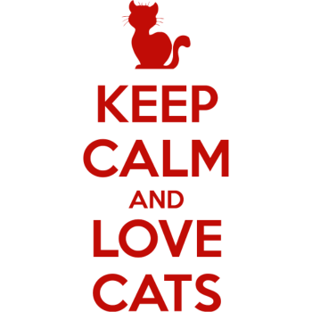 T-Shirt Keep Calm and Love Cats<br />imprimer sur un tee shirt