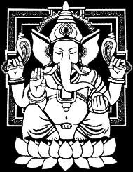 T-Shirt Ganesha Distressed <br />imprimer sur un tee shirt