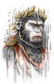 T-Shirt Caesar planete des singes<br />imprimer sur un tee shirt