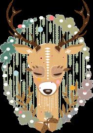 T-Shirt Un cerf dans la forêt <br />imprimer sur un tee shirt
