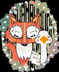 T-Shirt Un renard et une oie <br />imprimer sur un tee shirt