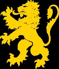 T-Shirt Lion Rampant, Or<br />imprimer sur un tee shirt