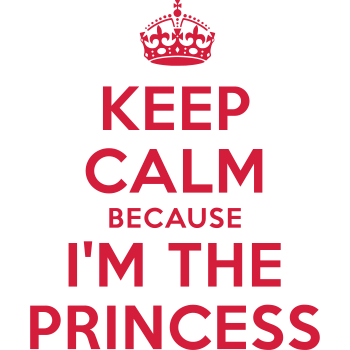 T-Shirt Keep Calm because I'm the Princess<br />imprimer sur un tee shirt