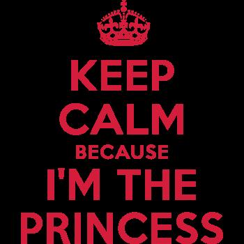 T-Shirt Keep Calm because I'm the Princess<br />imprimer sur un tee shirt
