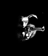 T-Shirt Dark Rabbit with Gun<br />imprimer sur un tee shirt