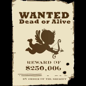 T-Shirt Cupid Wanted<br />imprimer sur un tee shirt