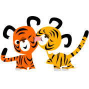 Cute Cartoon Tigers in Love by Cheerful Madness!!