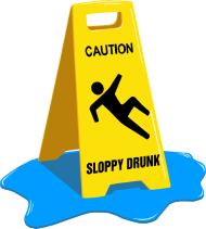 T-Shirt Caution Sloppy Drunk<br />imprimer sur un tee shirt