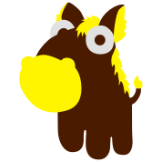 Horse in the cartoon style