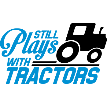 T-Shirt Still plays with tractors<br />imprimer sur un tee shirt