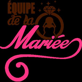 T-Shirt Équipe de la Mariée<br />imprimer sur un tee shirt