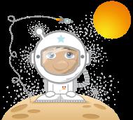 T-Shirt L'Astronaute Min'kids<br />imprimer sur un tee shirt