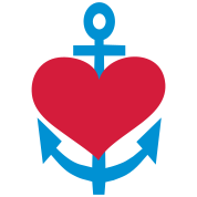 anchor love liebe heart herz maritim marine anker navy t shirt spreadshirt id. Black Bedroom Furniture Sets. Home Design Ideas
