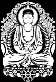 T-Shirt Gautama Buddha Halftone<br />imprimer sur un tee shirt