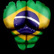 Brasile Bandiera Strappato Muscoli