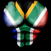Sudafrica Bandiera Strappato Muscoli