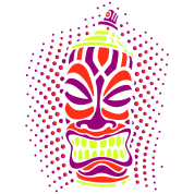 SPRAY A TIKI pt.2 (c3neg) - by toneyshirts.de