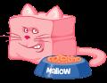 Motif Chat Mallow