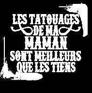 T-Shirt les tatouages de maman meilleur blanc<br />imprimer sur un tee shirt