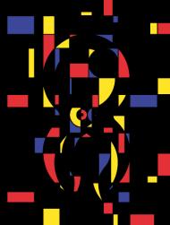 T-Shirt Poulpiet Mondrian<br />imprimer sur un tee shirt