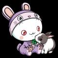Motif Puni et un lapin