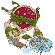 T-Shirt La Vengeance de la Pizza Ninja<br />personnalisation vêtement