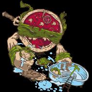 T-Shirt La Vengeance de la Pizza Ninja<br />imprimer sur un tee shirt