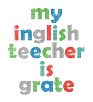 T-Shirt MY ENGLISH TEACHER<br />imprimer sur un tee shirt