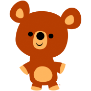 Cute Friendly Cartoon Bear Cub by Cheerful Madness!!