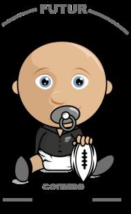 T-Shirt Bébé rugbyman comme papa<br />imprimer sur un tee shirt