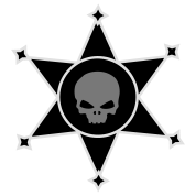Sheriff's star with Skull icon