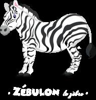 T-Shirt Zébulon le zèbre<br />imprimer sur un tee shirt