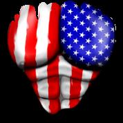 Amérique Drapeau Déchiré Musculaires