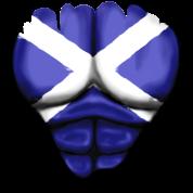 Scozia Bandiera Strappato Muscoli
