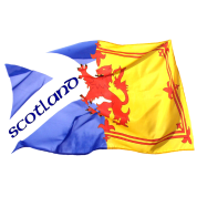 scotland saltire and lion rampant flag